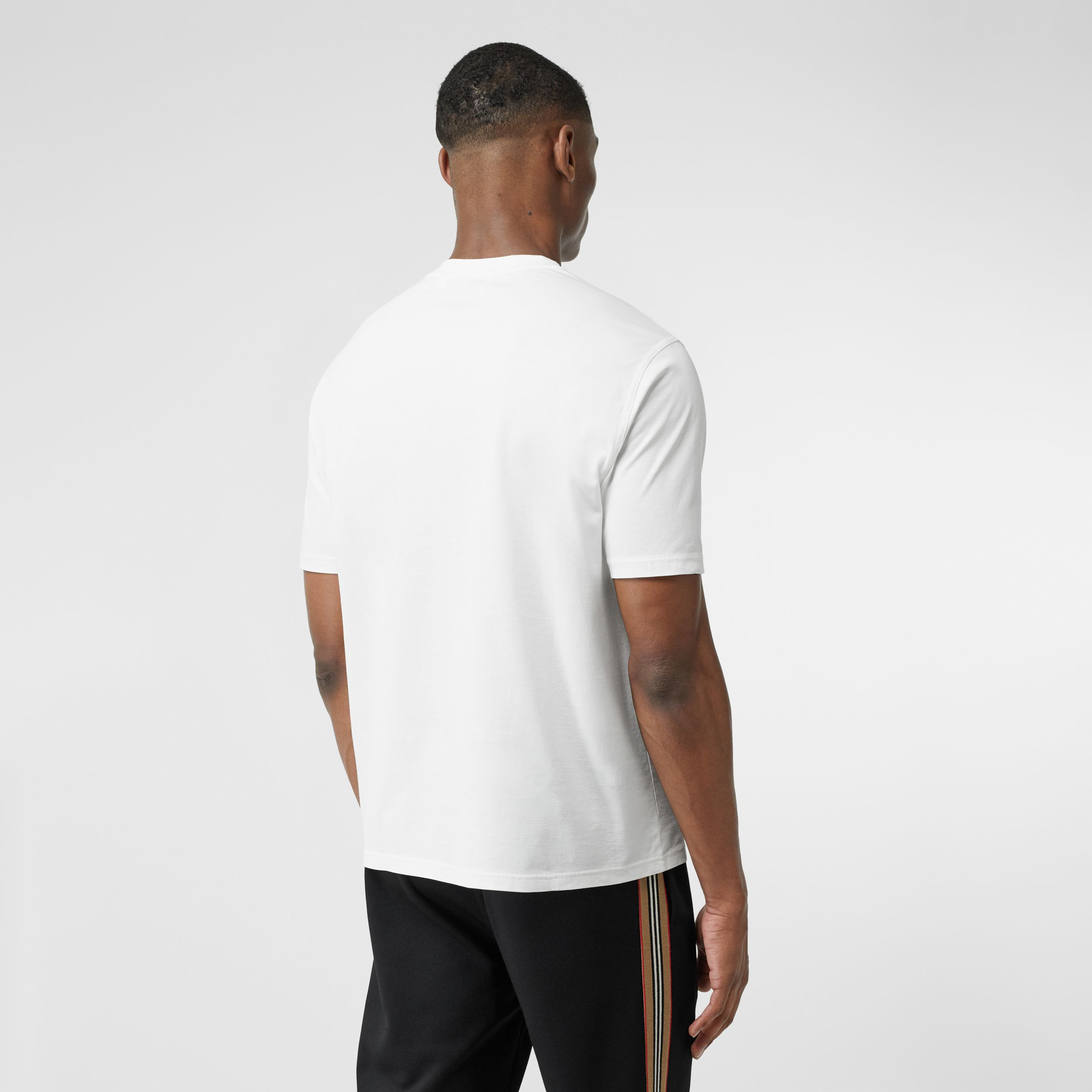 Logo Graphic Cotton T-shirt in White - Men | Burberry United States - 3