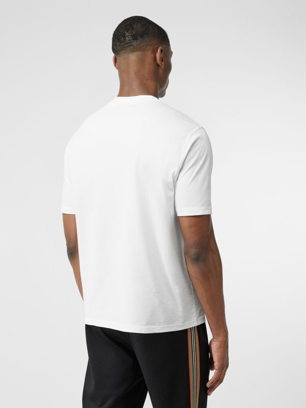 Logo Graphic Cotton T-shirt in White - Men | Burberry - cell image 2