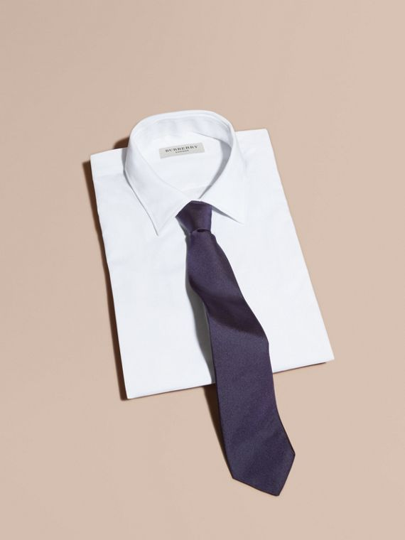 Modern Cut Silk Twill Tie Navy - cell image 3