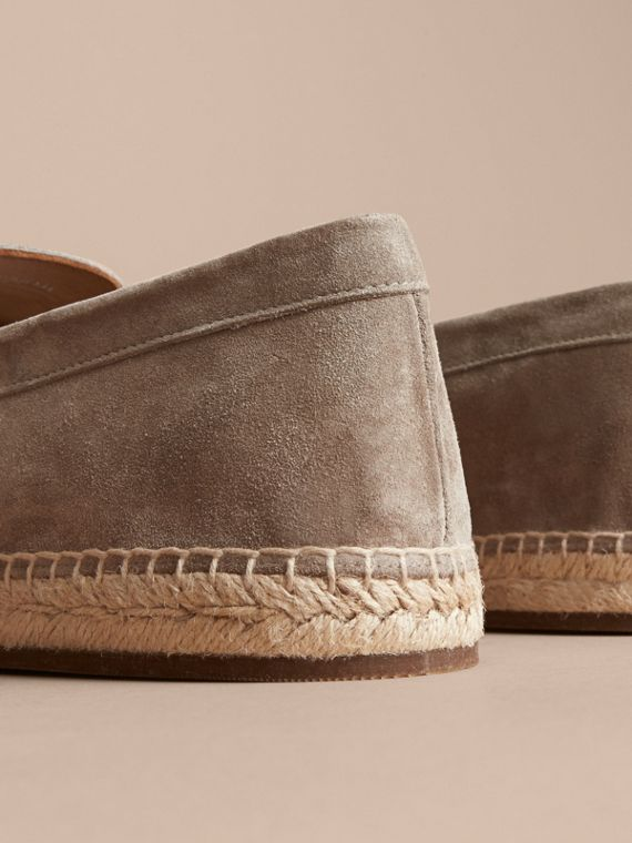 Tasselled Suede Espadrille Loafers in Light Taupe Brown - cell image 3