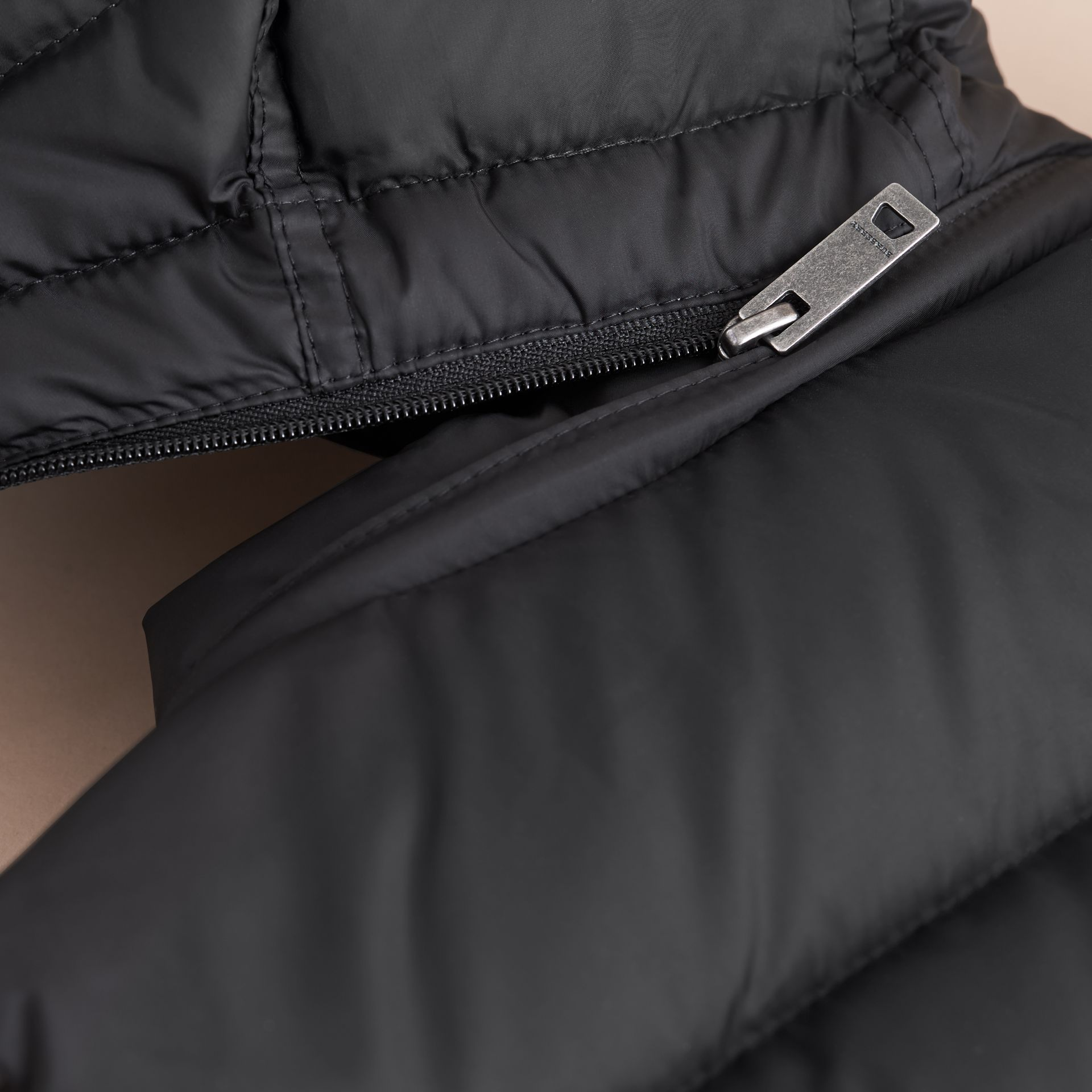 Detachable Hood Down-filled Gilet in Black - Girl | Burberry - gallery image 5