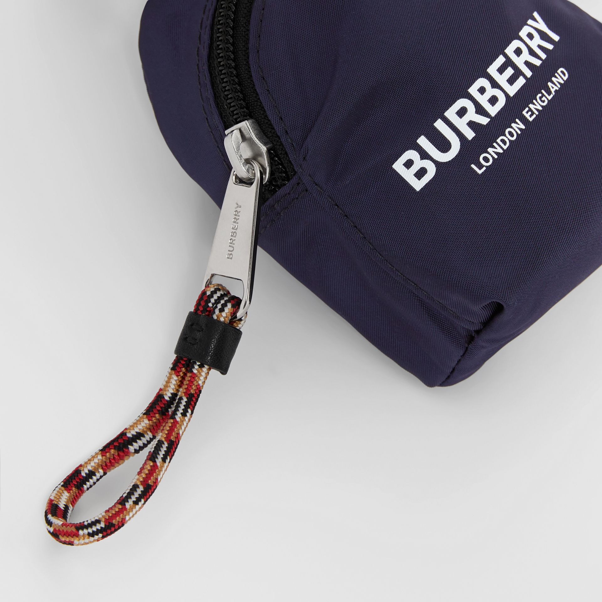 Logo Print Coin Case in Dark Navy - Children | Burberry Australia - gallery image 1