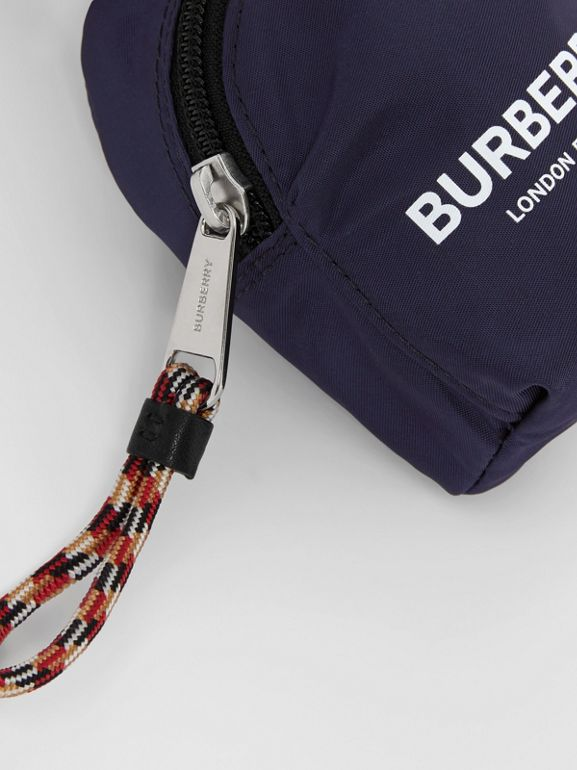 Logo Print Coin Case in Dark Navy - Children | Burberry Australia - cell image 1