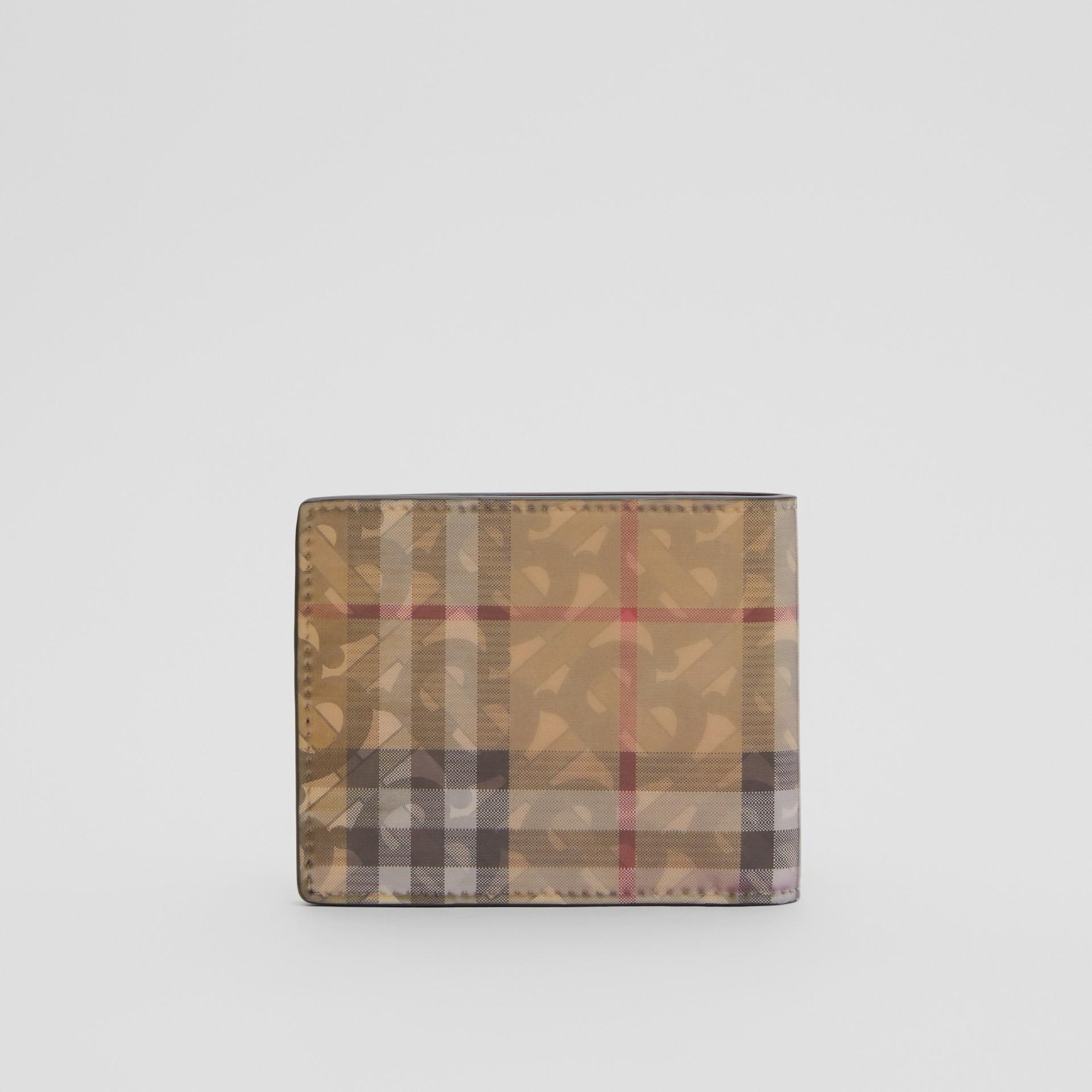 Portefeuille à rabat avec imprimé 3D (Beige D'archive) - Homme | Burberry Canada - photo de la galerie 4