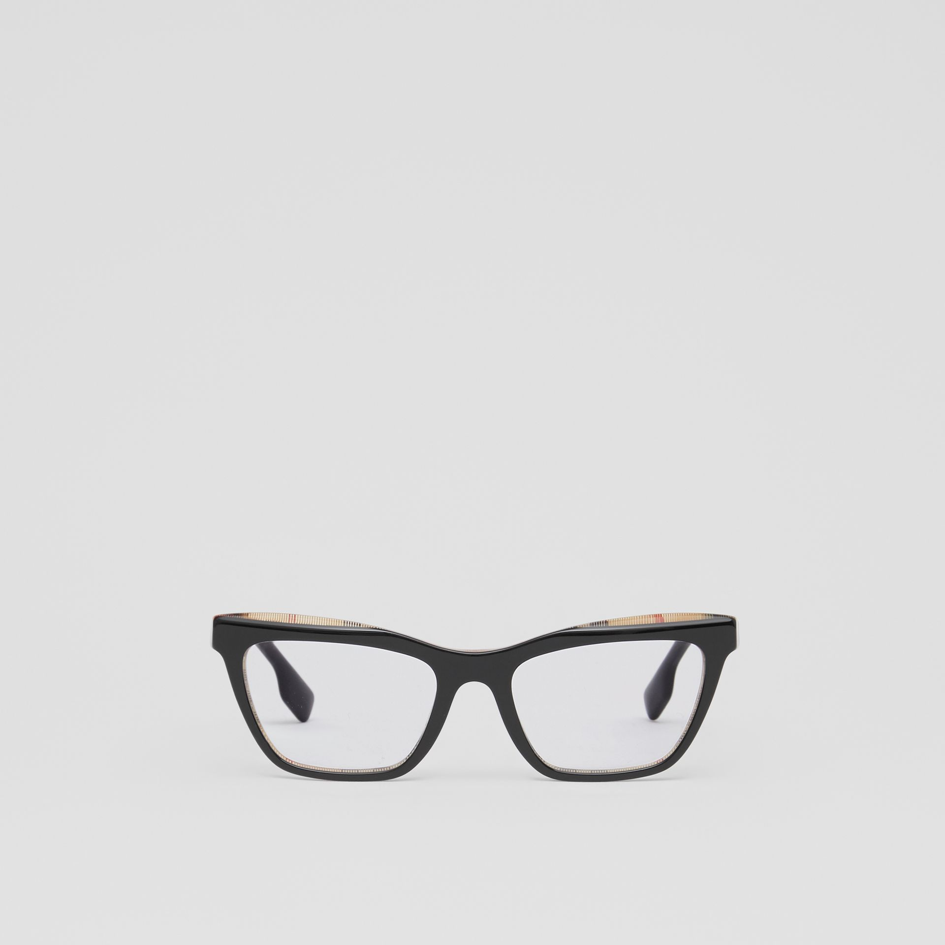 Rectangular Optical Frames in Black/beige - Women | Burberry Canada - gallery image 0