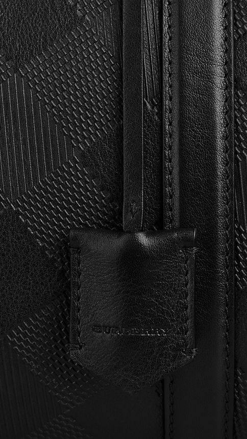 Black The Medium Alchester in Embossed Check Leather - Image 6