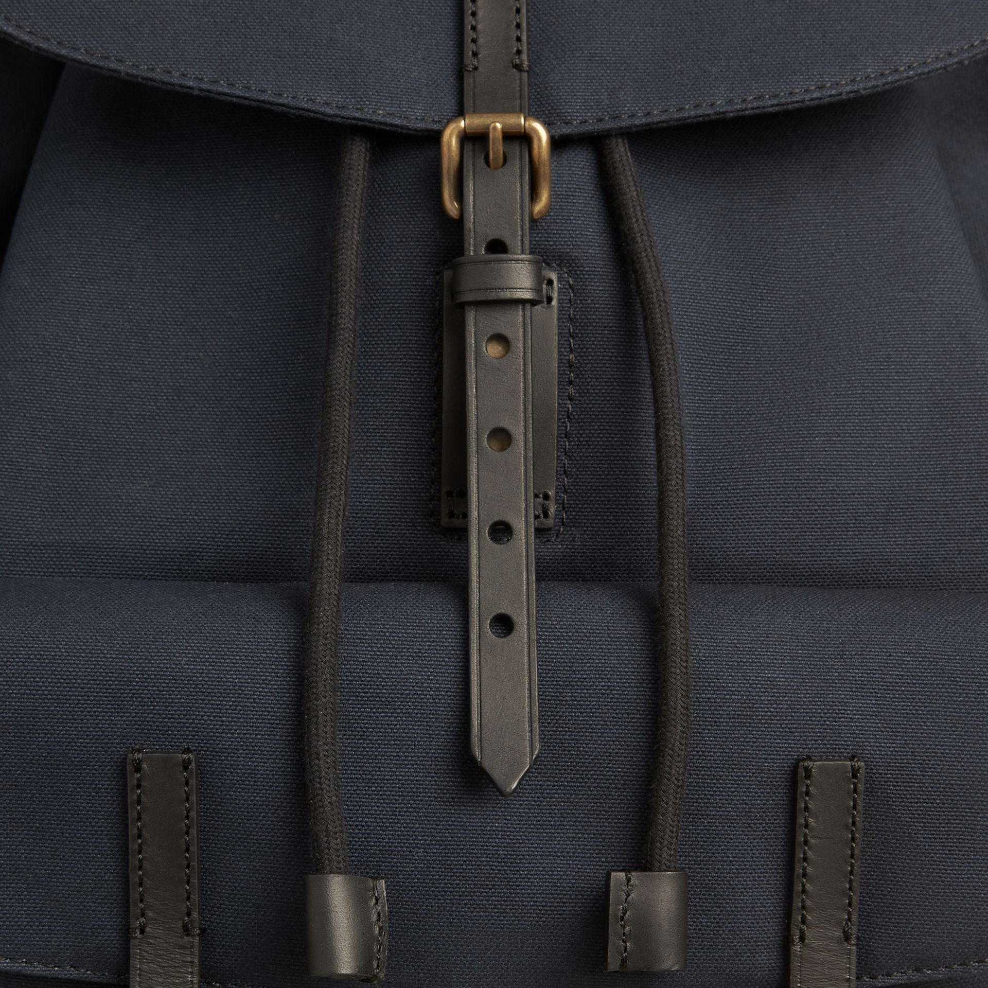 Deep navy Cotton Canvas Backpack - gallery image 6