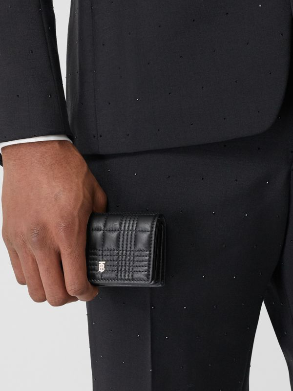 Quilted Lambskin Card Case with Detachable Strap in Black | Burberry Singapore - cell image 3