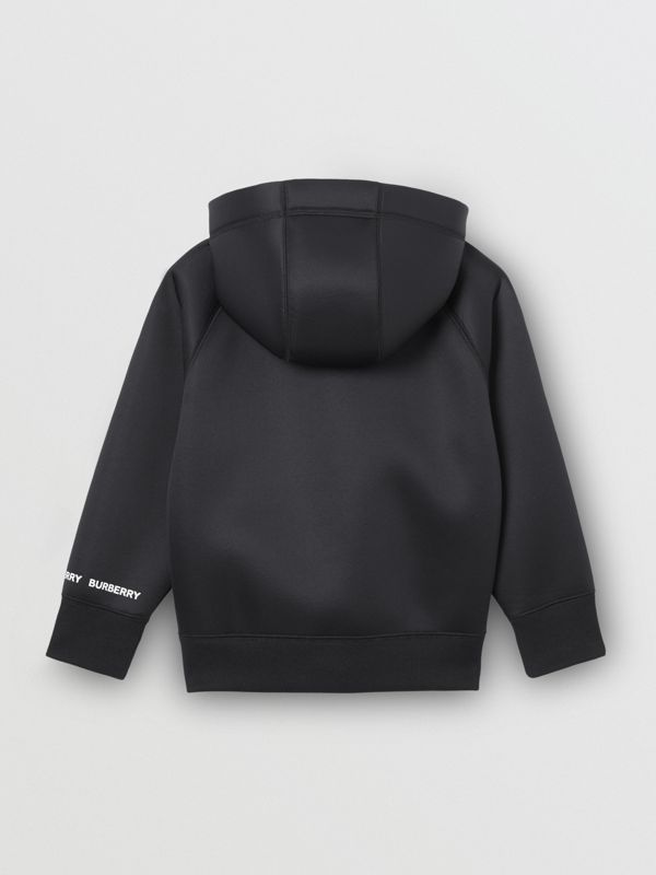 Sparkler Print Neoprene Hooded Top in Black | Burberry - cell image 3