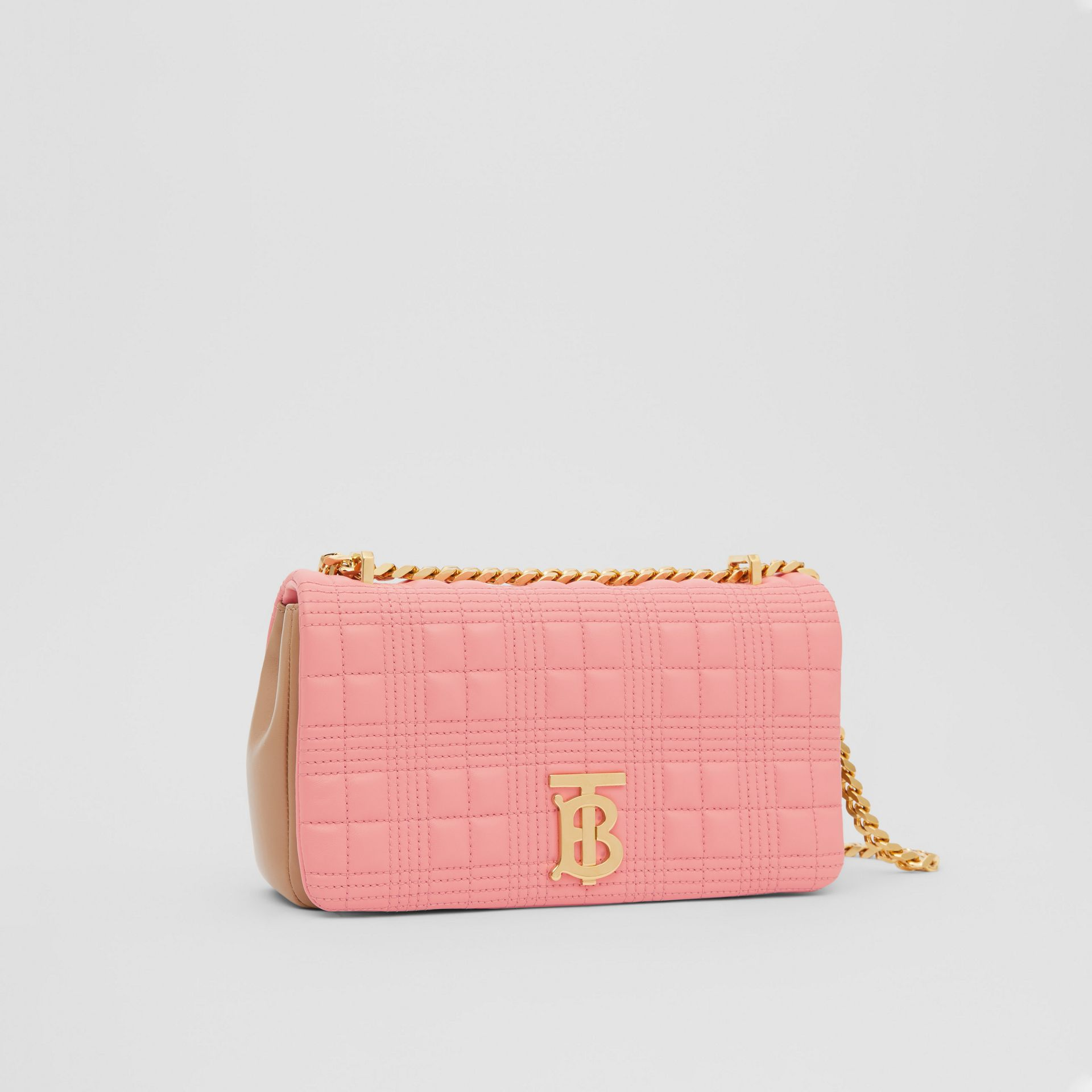 Small Quilted Two-tone Lambskin Lola Bag in Peony/camel - Women | Burberry United Kingdom - gallery image 6