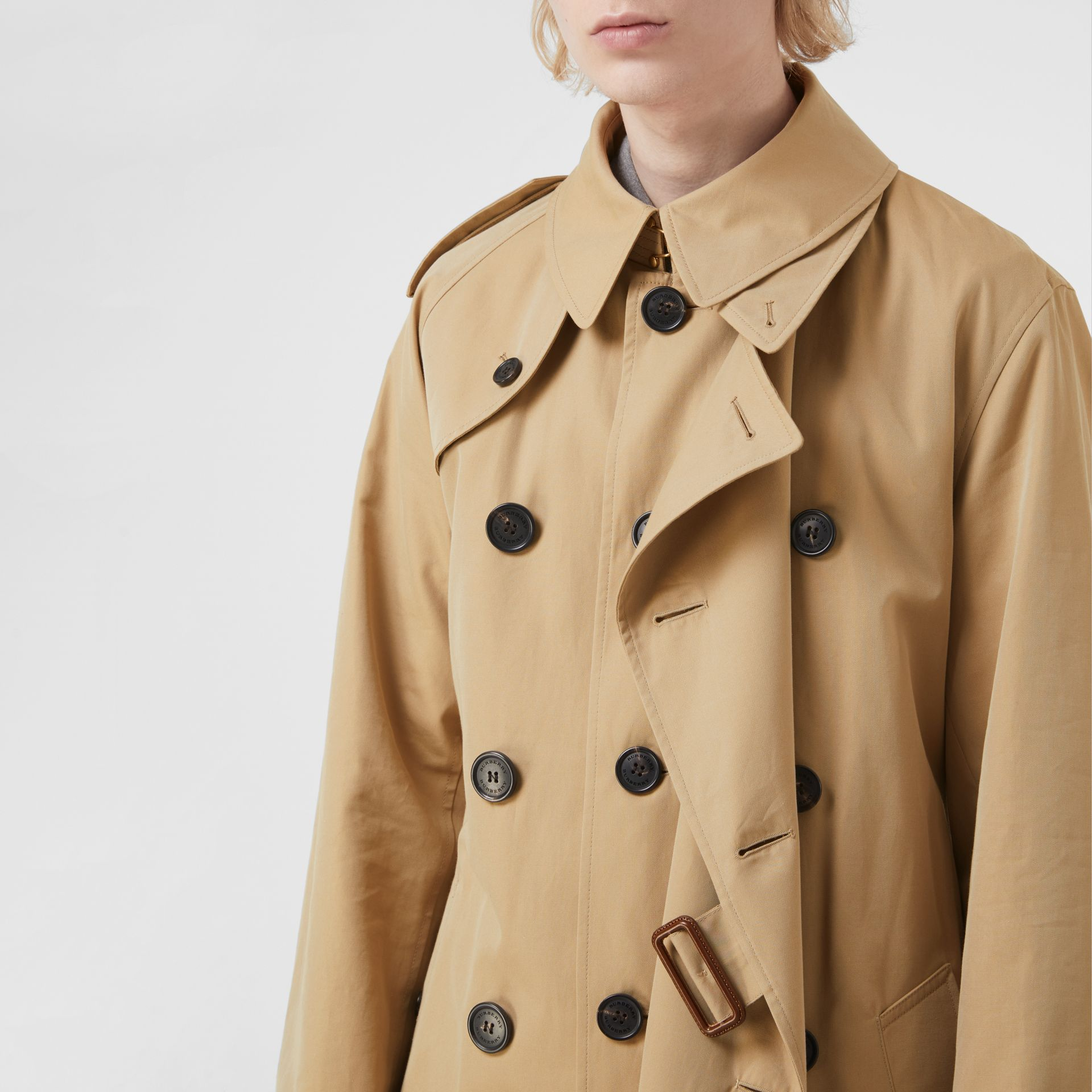 Gosha x Burberry Reconstructed Trench Coat in Honey | Burberry - gallery image 7