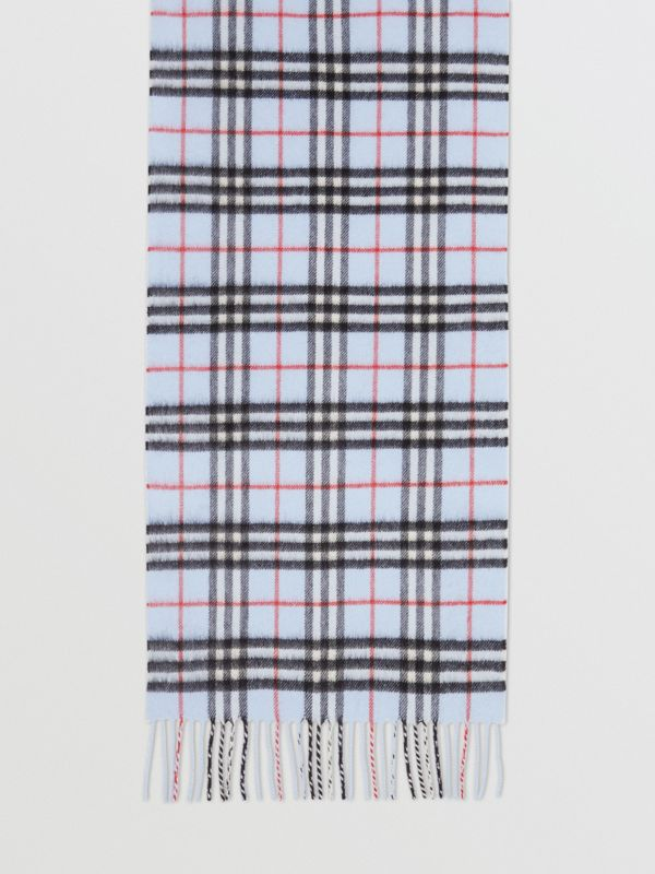 The Classic Vintage Check Cashmere Scarf in Pale Blue | Burberry - cell image 3