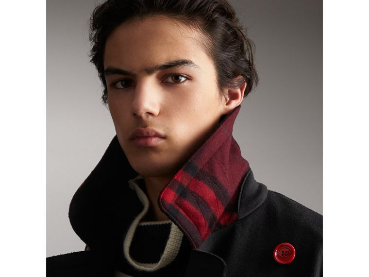 Cappotto in lana con bottoni in resina - Uomo | Burberry - cell image 1