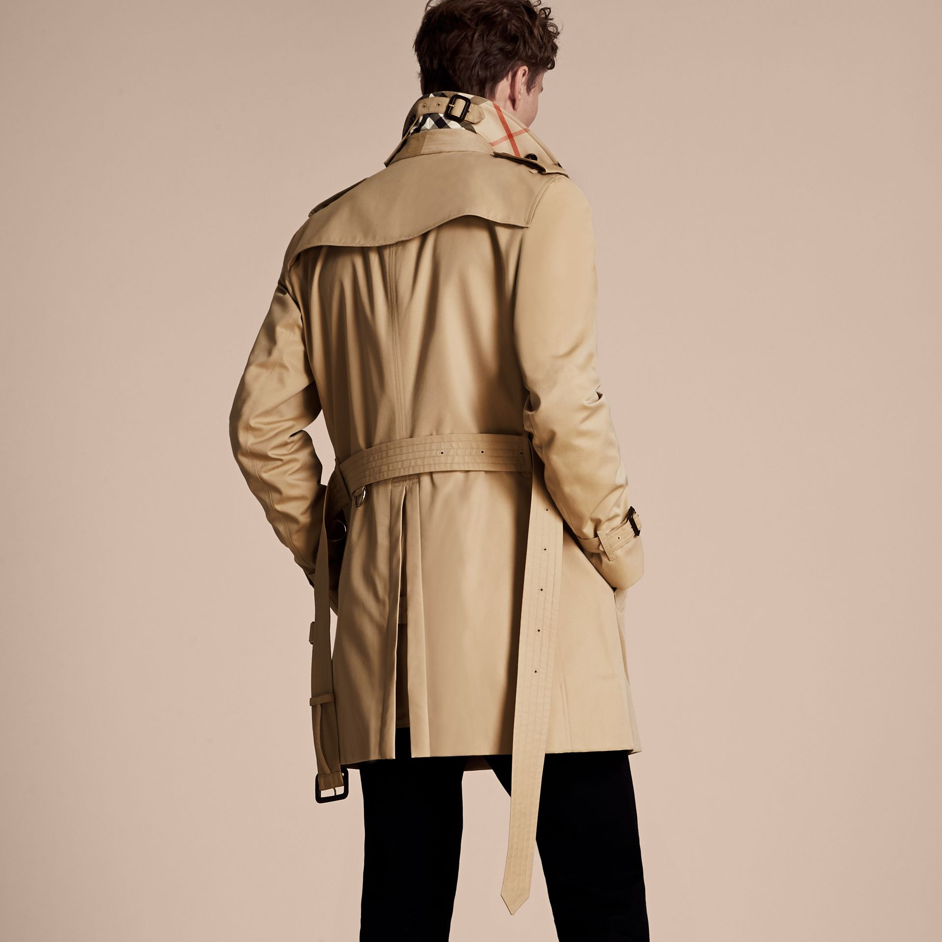 Honey The Chelsea – Mid-length Heritage Trench Coat Honey - gallery image 3