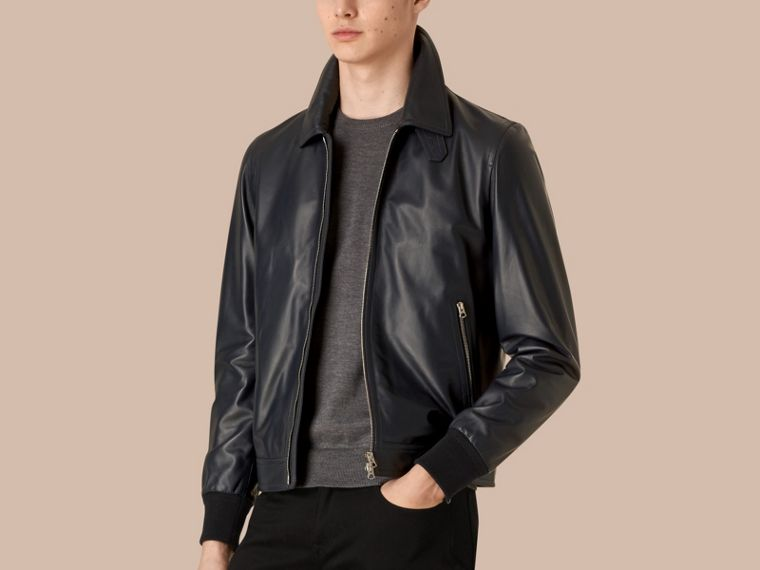 Navy Lambskin Jacket - cell image 2