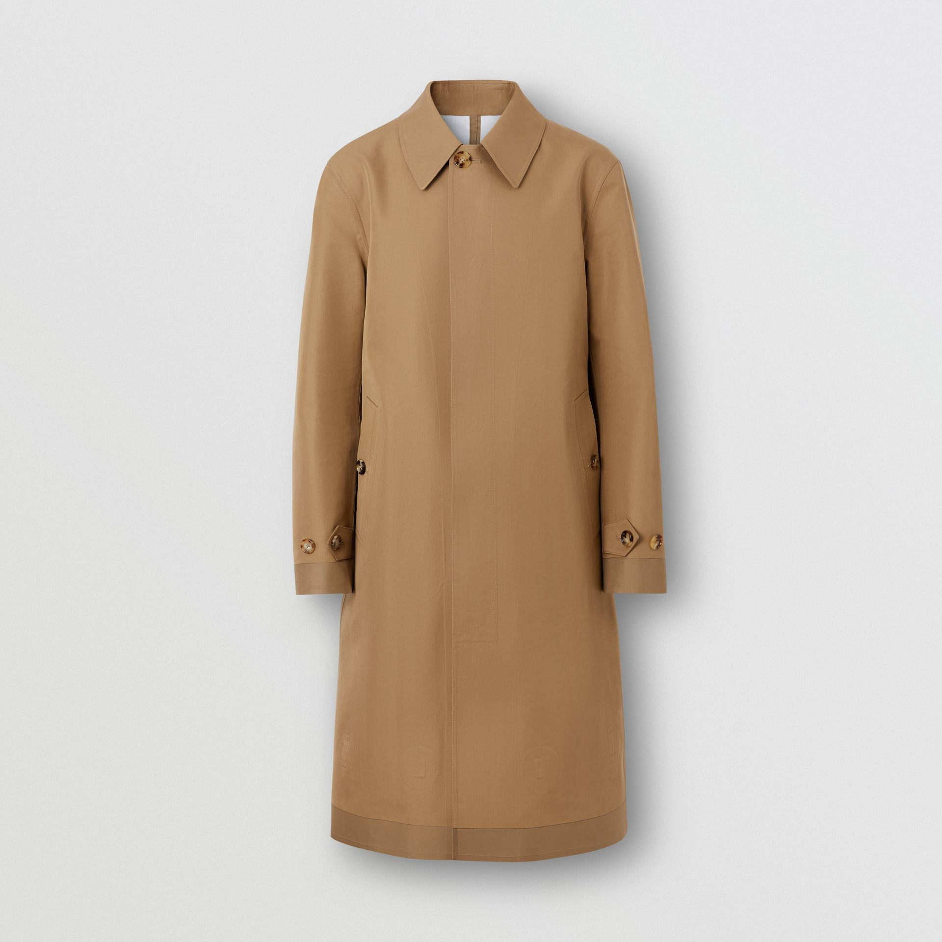 Double-faced Cotton Silk Car Coat in Camel - Men | Burberry - gallery image 3