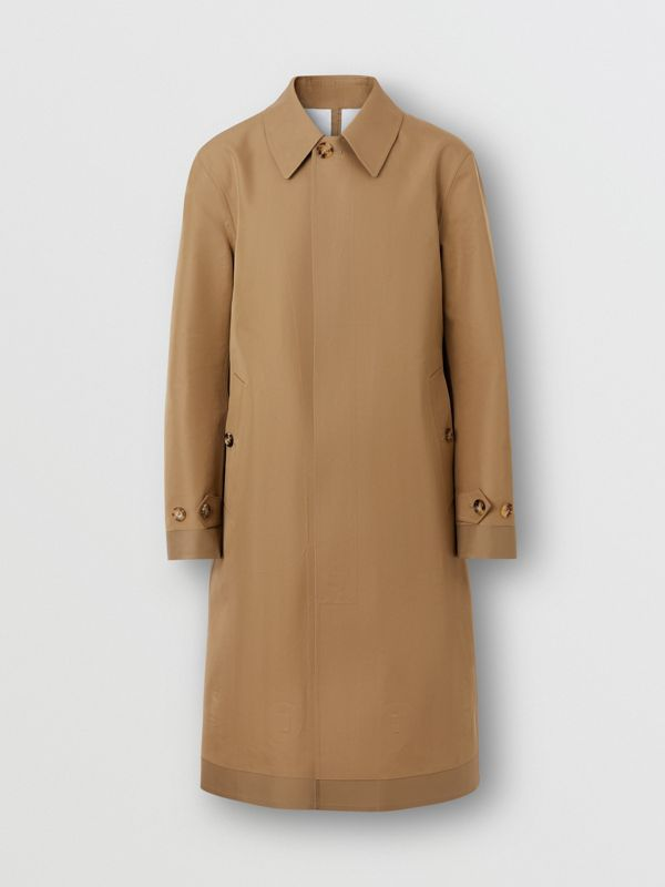 Double-faced Cotton Silk Car Coat in Camel - Men | Burberry Singapore - cell image 2