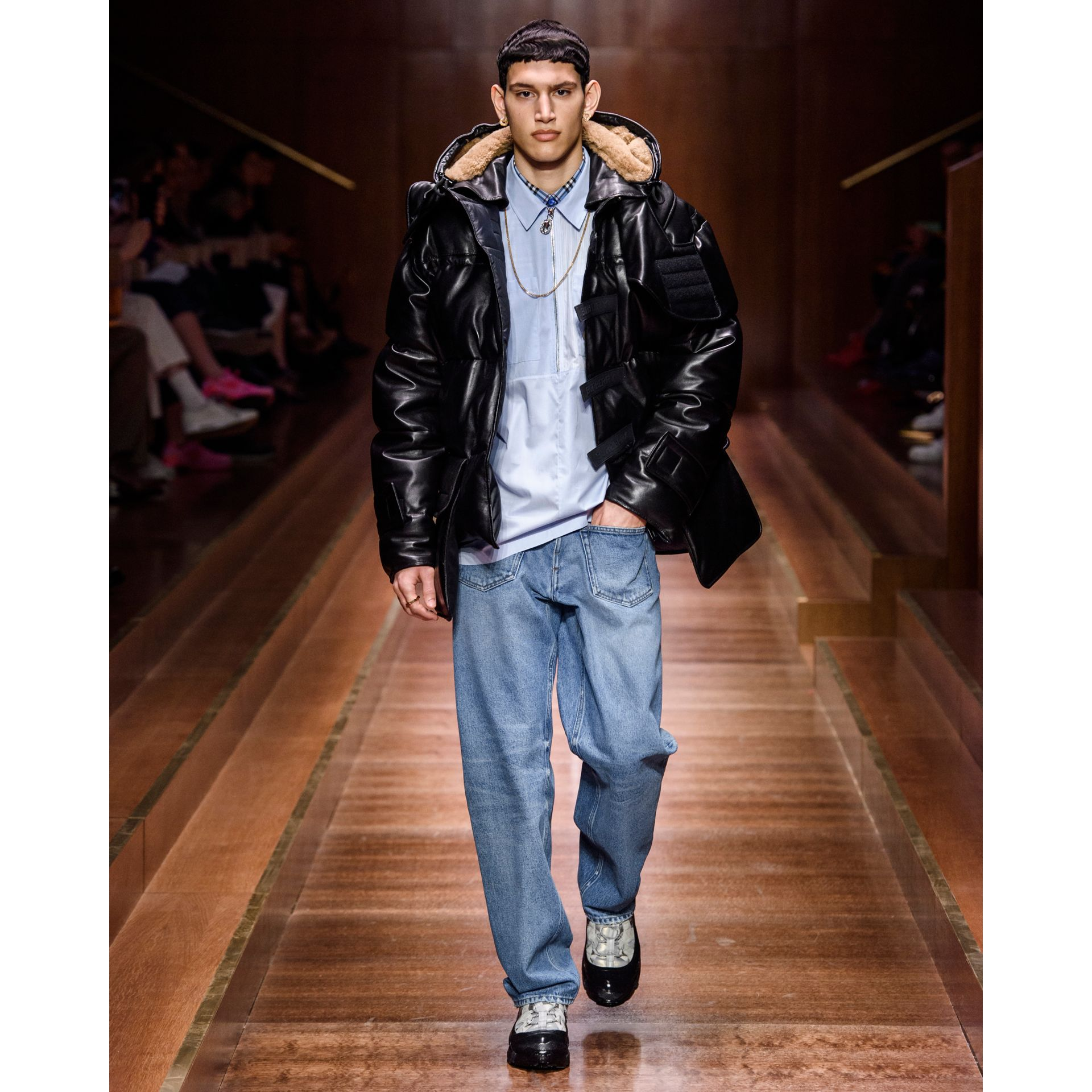 Plonge Lambskin Puffer Jacket in Black - Men | Burberry - gallery image 7
