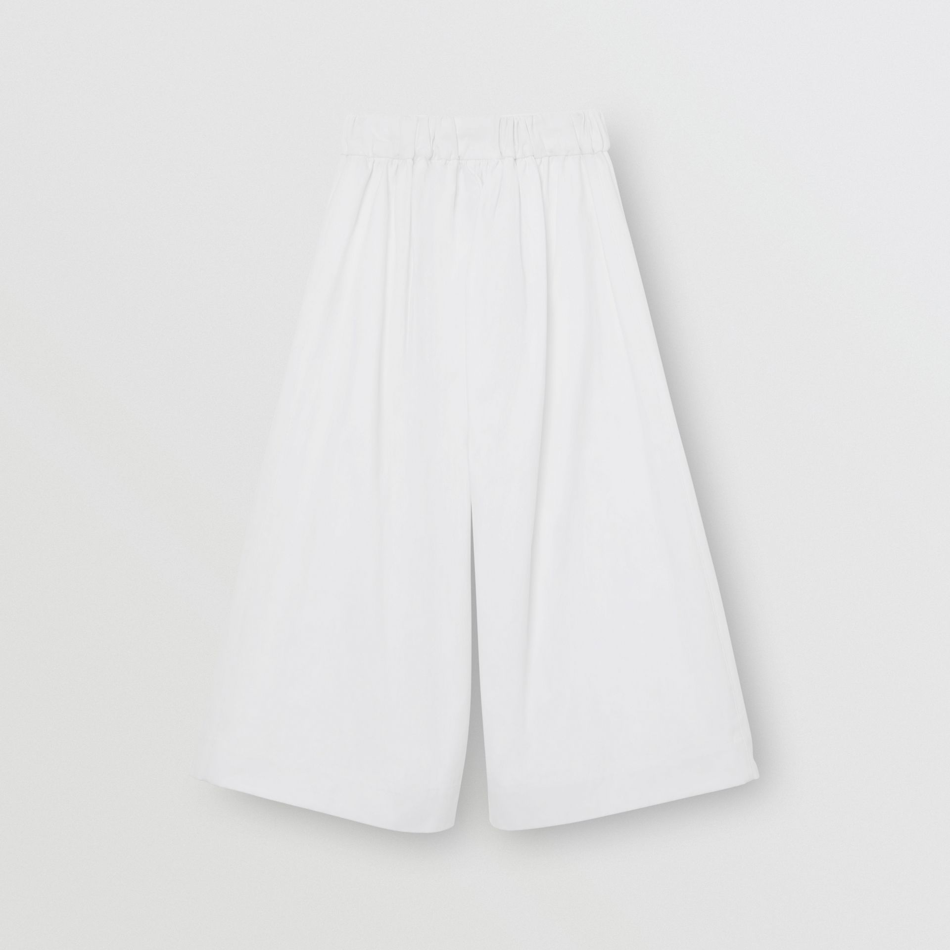 Cotton Blend Sailor Trousers in White | Burberry Australia - gallery image 3
