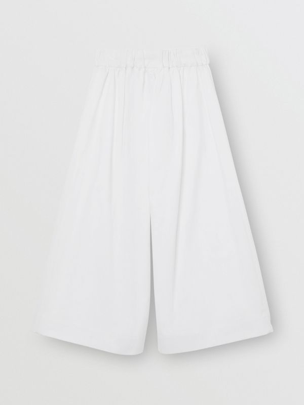 Cotton Blend Sailor Trousers in White | Burberry Canada - cell image 3