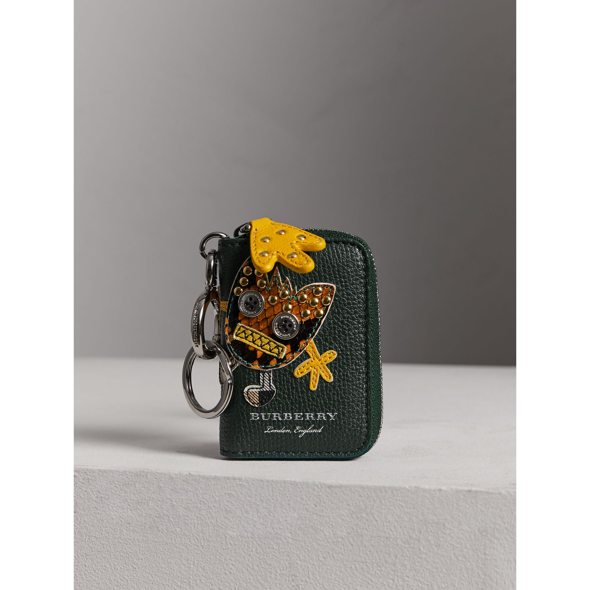 Creature Appliqué Leather Notebook Charm in Racing Green | Burberry - gallery image 5