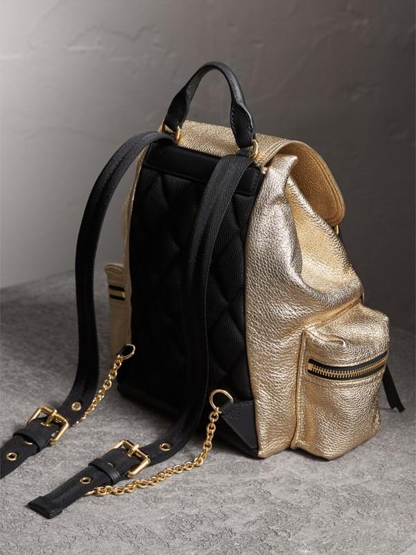 The Medium Rucksack in Metallic Deerskin in Nude Gold - Women | Burberry - cell image 3