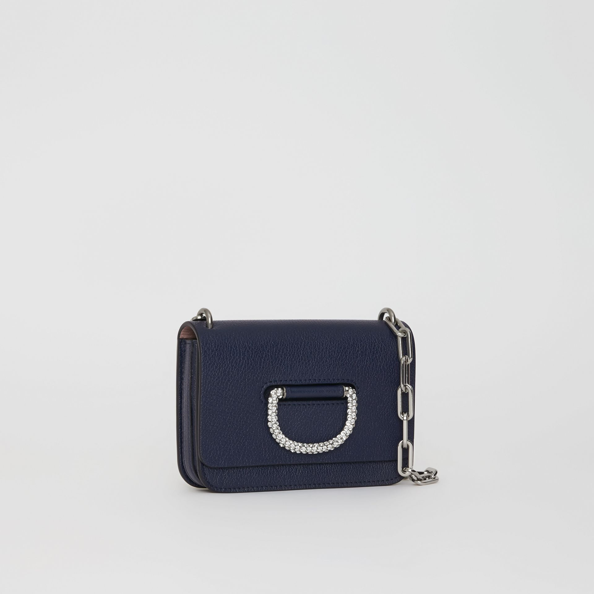 The Mini Leather Crystal D-ring Bag in Regency Blue - Women | Burberry - gallery image 4