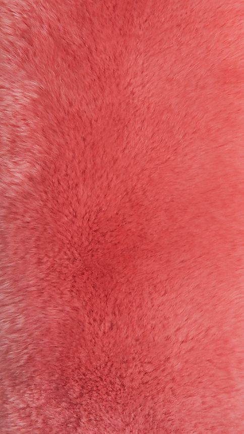 Pink azalea Rabbit Fur Collar - Image 3