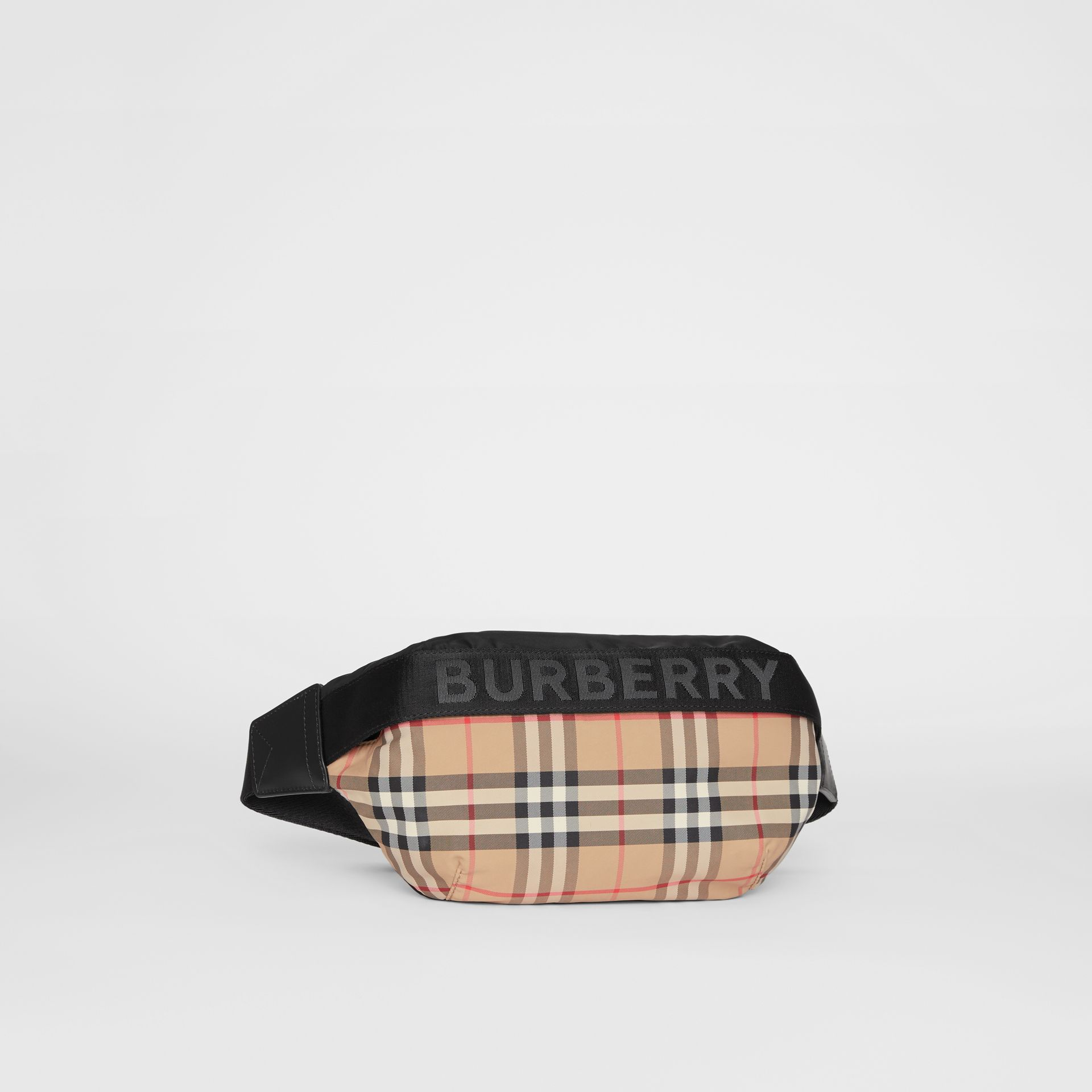 Medium Vintage Check Bum Bag in Archive Beige - Women | Burberry - gallery image 8