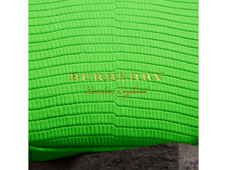 Mini Two-tone Lizard Metal Frame Clutch Bag in Neon Green - Women | Burberry - cell image 1