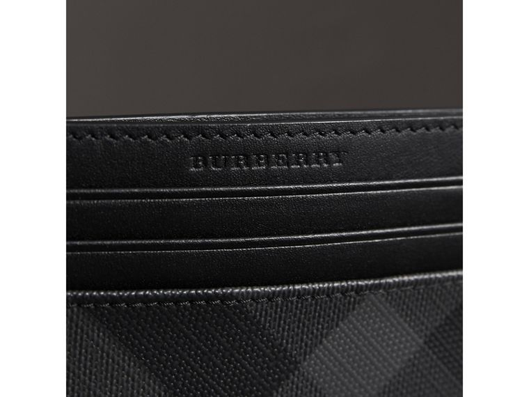 London Check Card Case in Charcoal/black - Men | Burberry Singapore - cell image 1