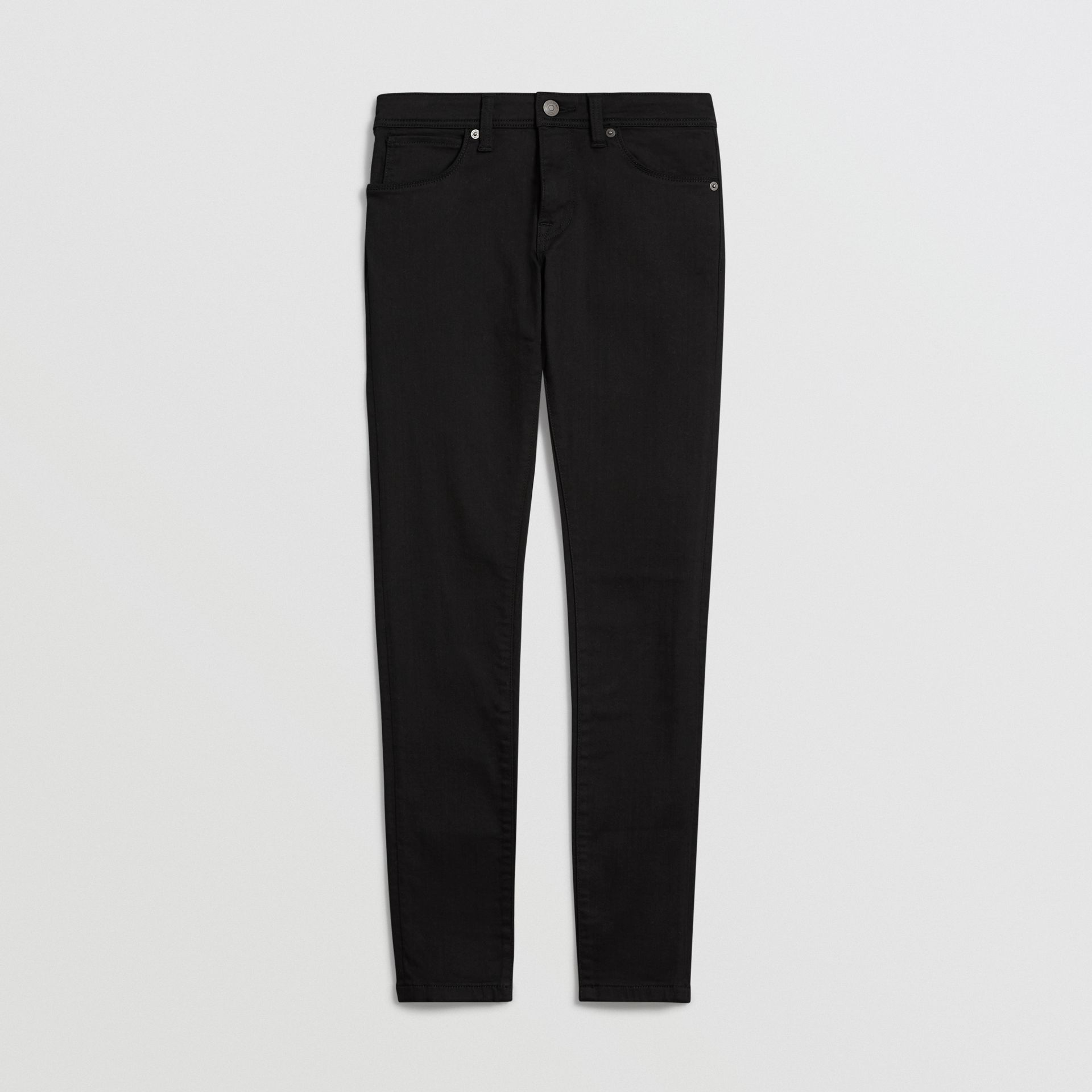 Skinny Fit Low-Rise Deep Black Jeans - Women | Burberry United States - gallery image 3
