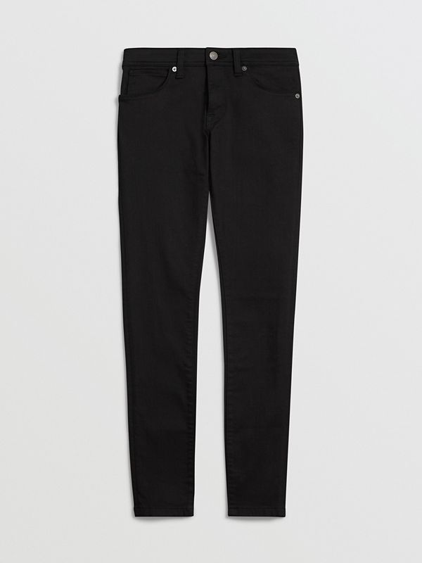 Skinny Fit Low-Rise Deep Black Jeans - Women | Burberry United States - cell image 3
