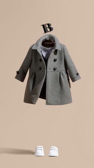Tailored Wool Cashmere Blend Coat