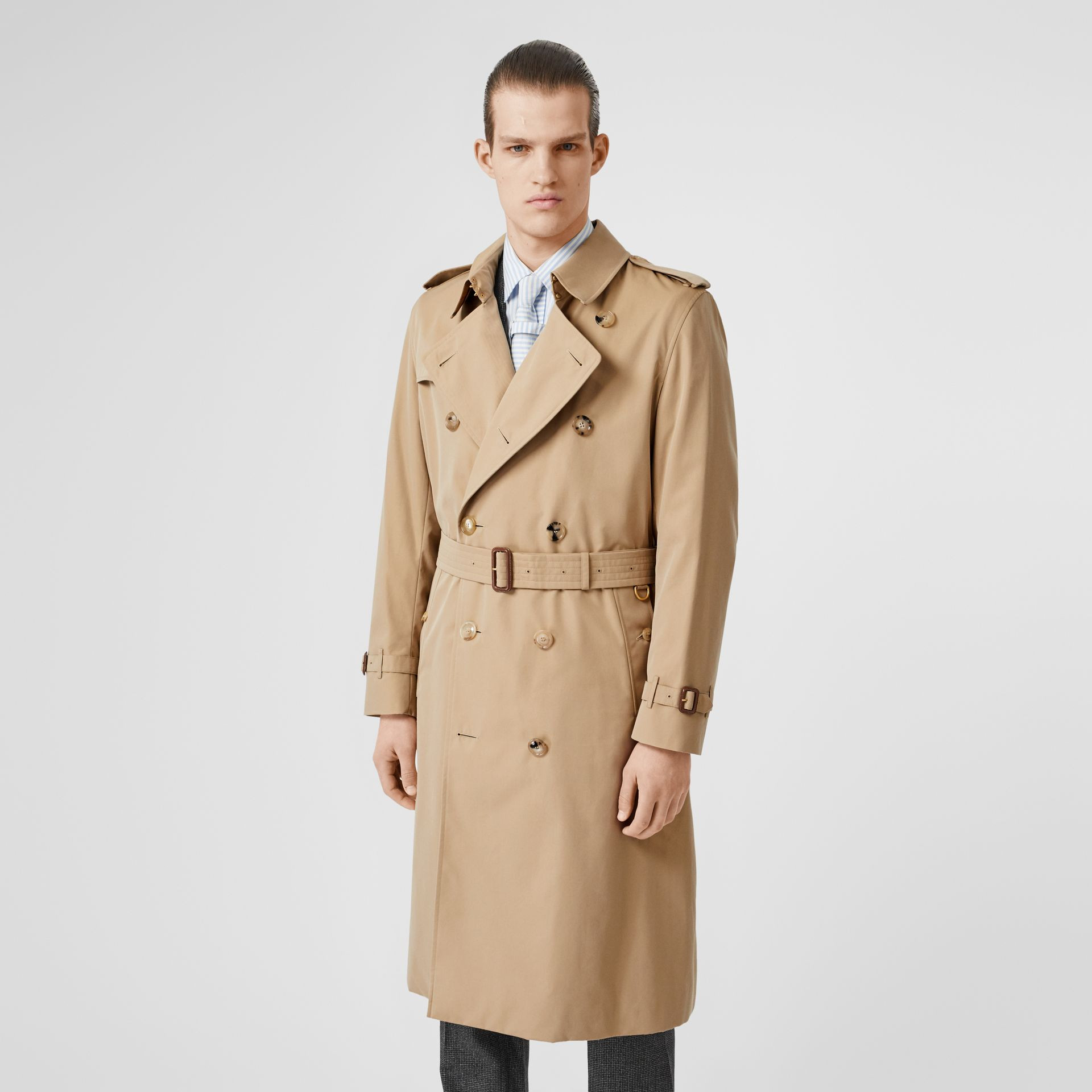 The Long Kensington Heritage Trench Coat in Honey - Men | Burberry Hong Kong S.A.R - gallery image 7