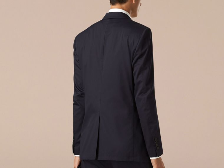 Navy Modern Fit Unlined Cotton Jacket - cell image 1