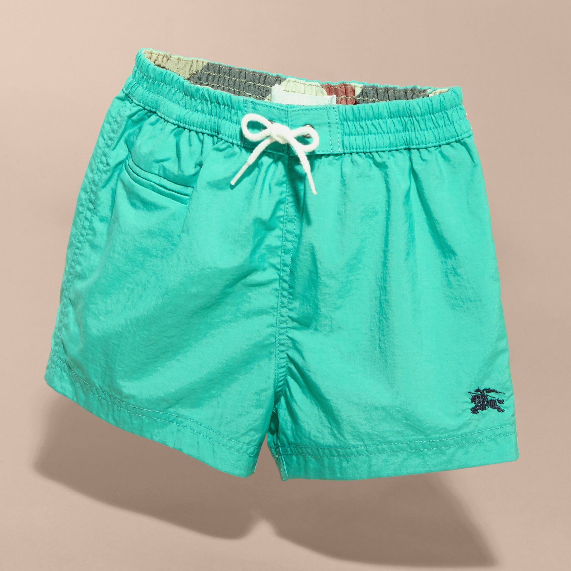 Quick-dry Swim Shorts in Aqua Green | Burberry - gallery image 3