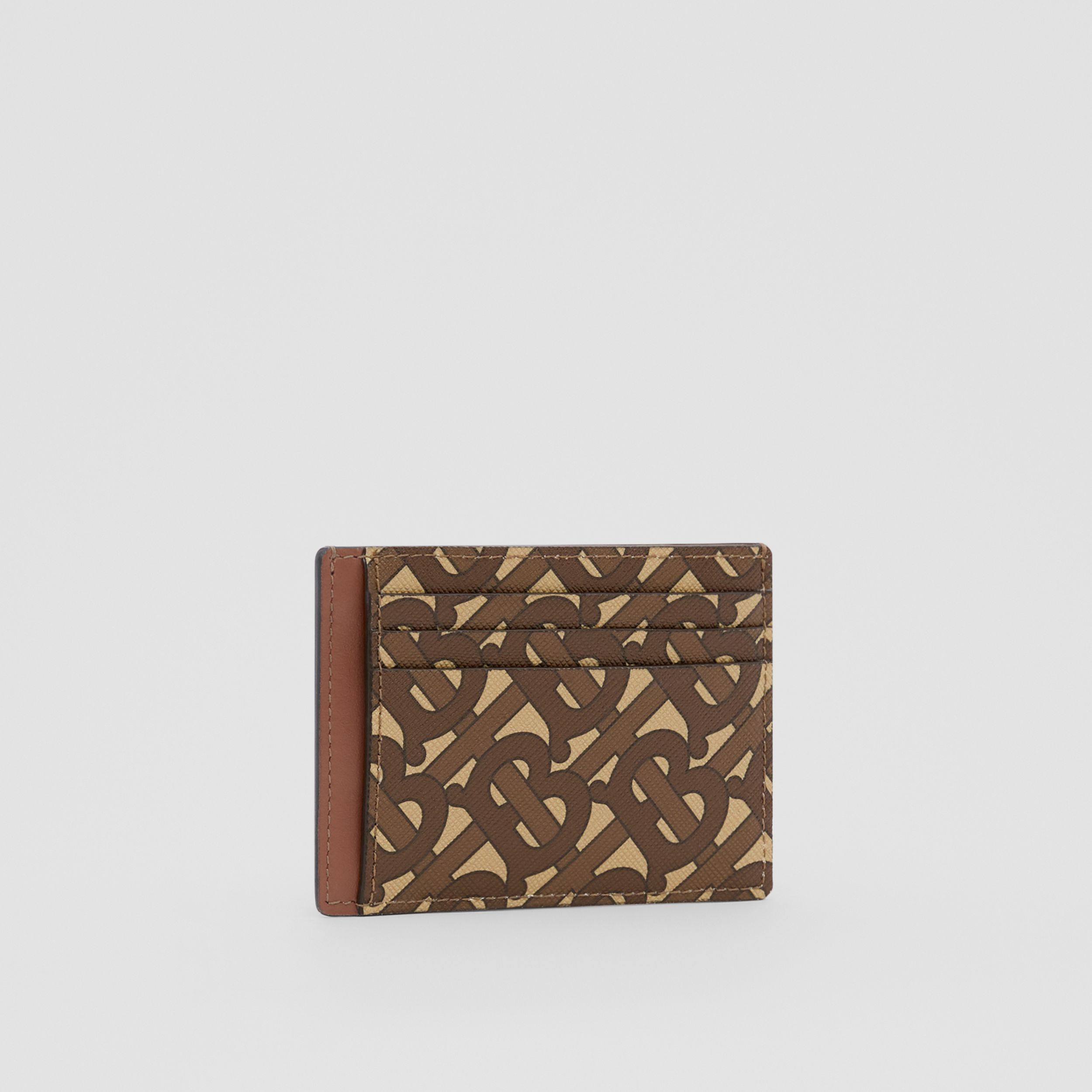 Monogram Print E-canvas Money Clip Card Case in Bridle Brown - Men | Burberry - 4