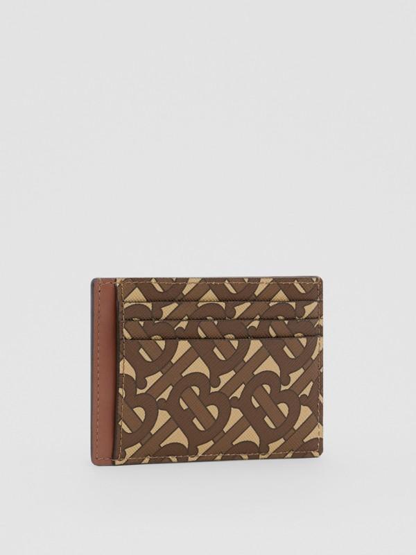 Monogram Print E-canvas Money Clip Card Case in Bridle Brown - Men | Burberry - cell image 3