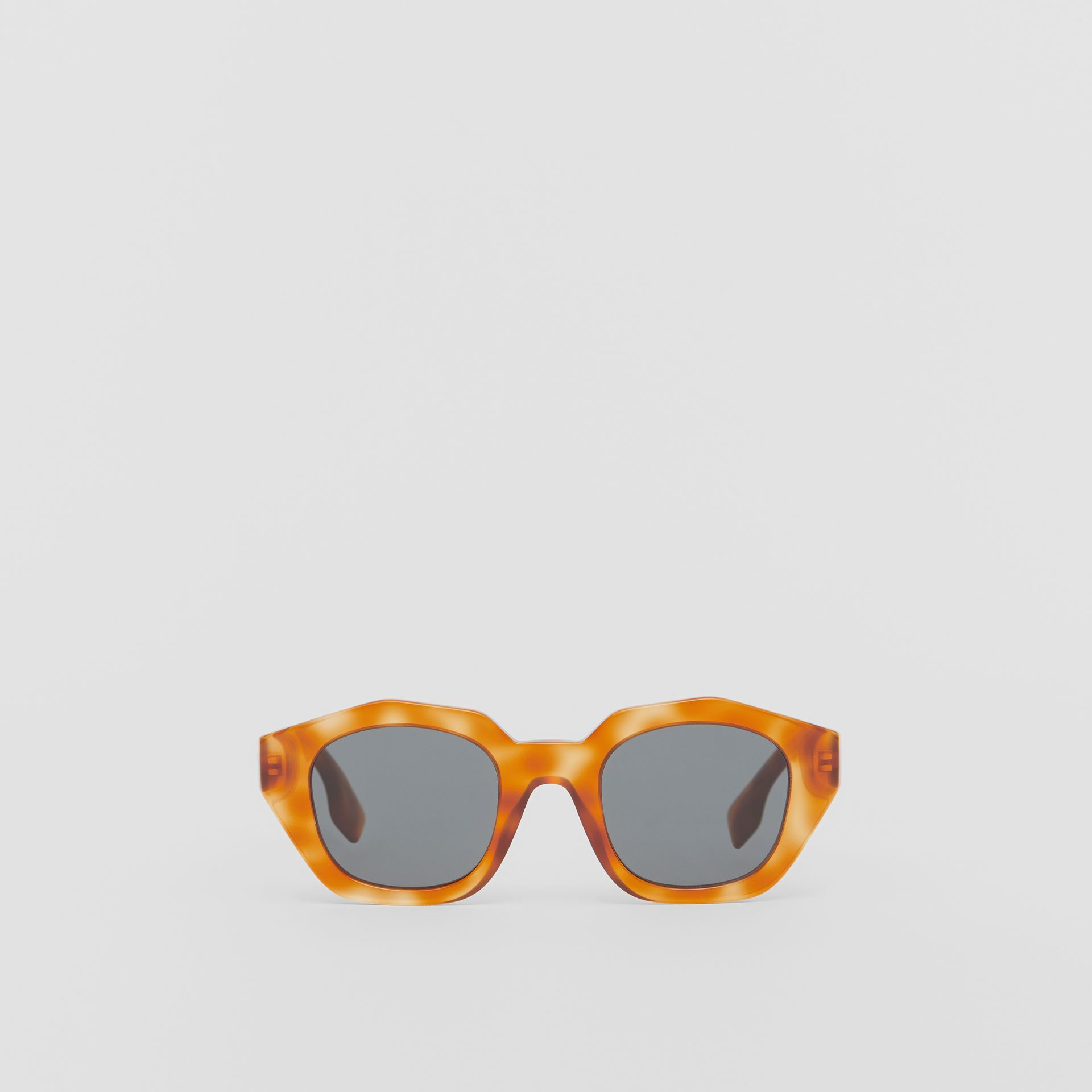 Geometric Frame Sunglasses in Tortoiseshell Amber - Women | Burberry United Kingdom - gallery image 0