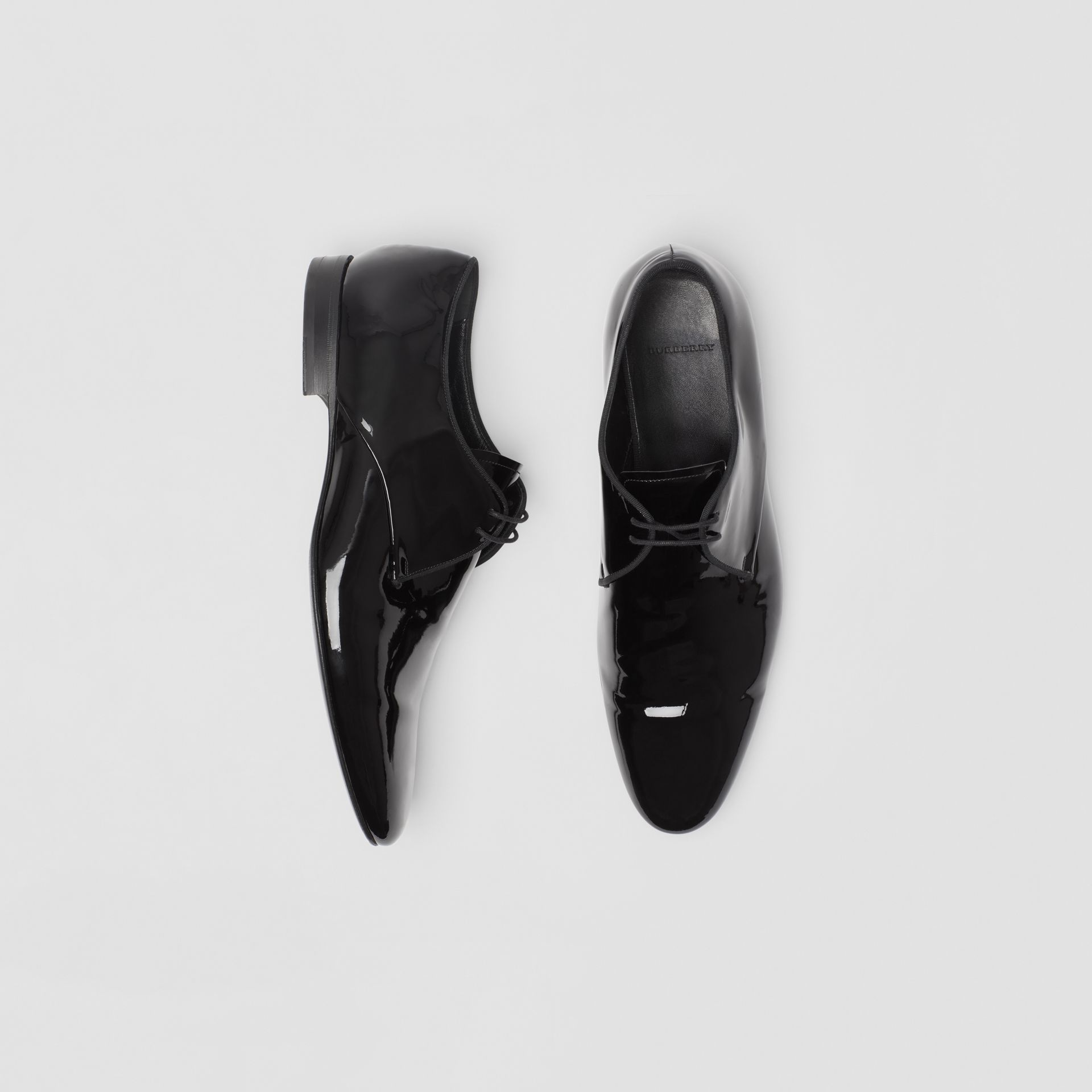 Polished Leather Lace-up Shoes in Black - Men | Burberry United Kingdom - gallery image 0