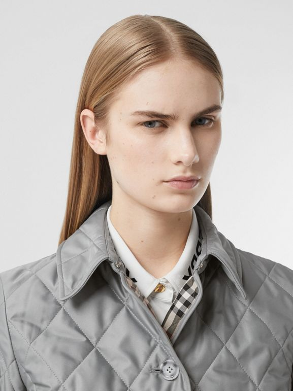Diamond Quilted Thermoregulated Jacket in Mid Grey - Women | Burberry - cell image 1