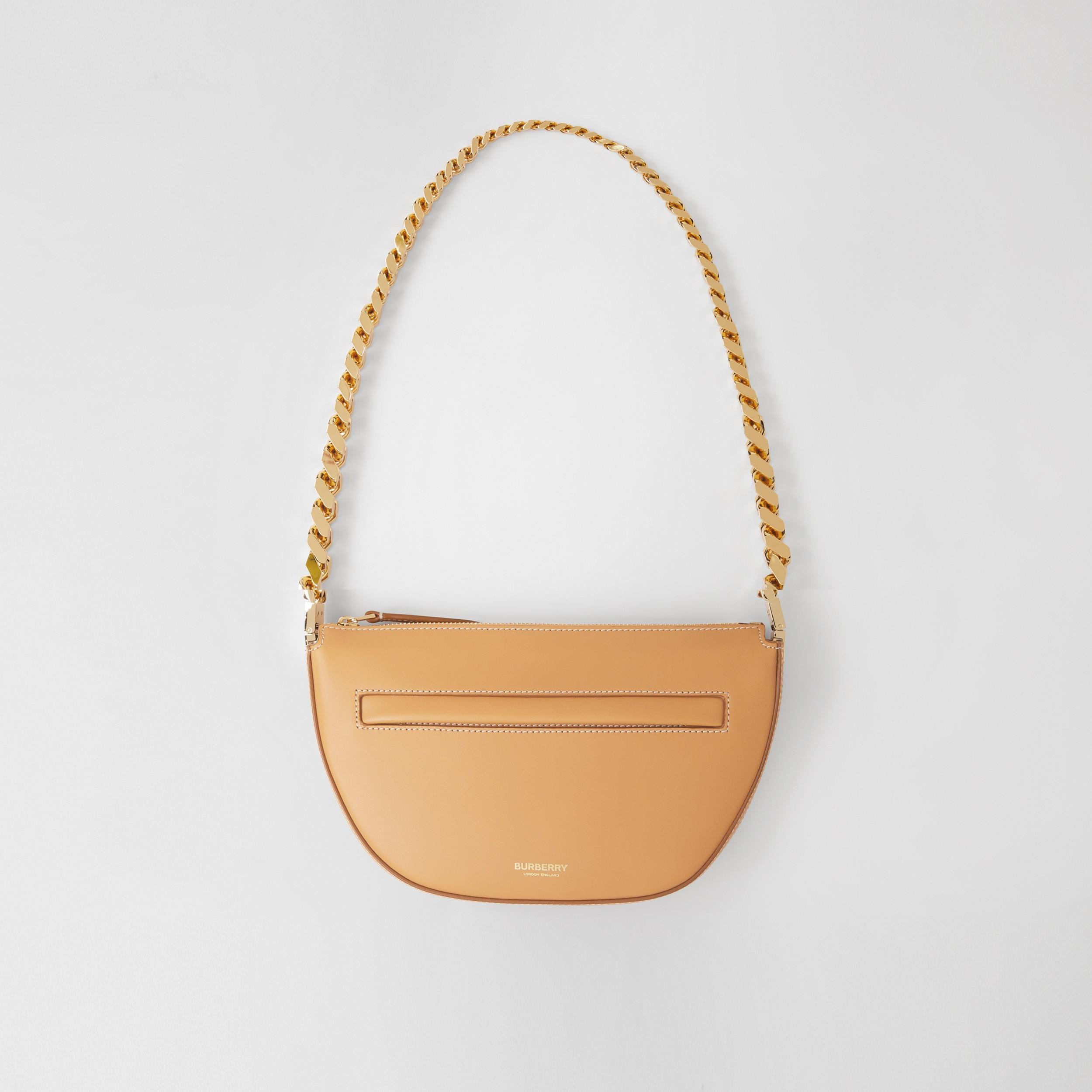 Mini Leather Zip Olympia Bag in Warm Sand - Women | Burberry United Kingdom - 1