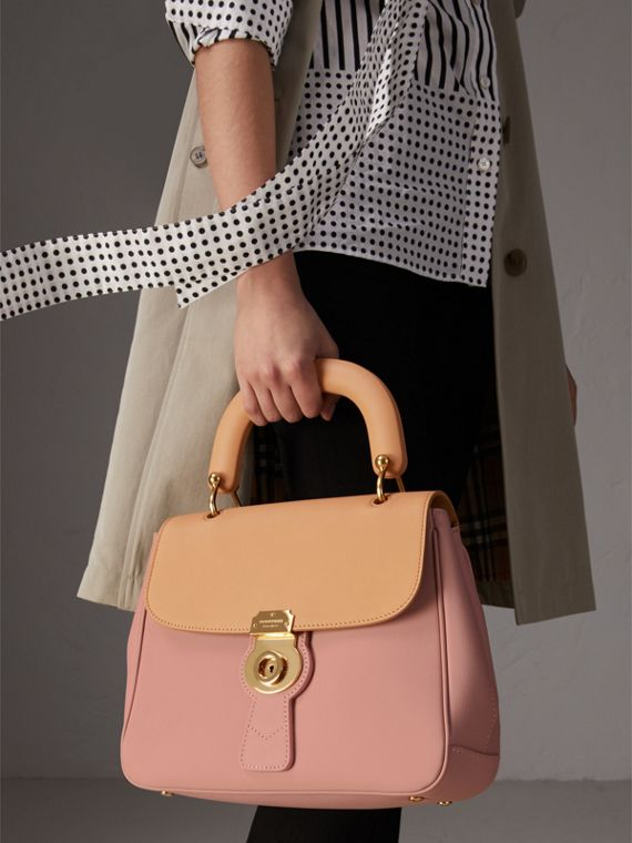 The Medium DK88 Top Handle Bag in Ash Rose/pale Clementine - Women | Burberry Singapore - cell image 2