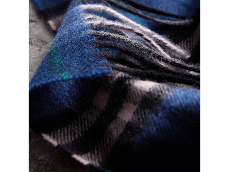 Check Cashmere Scarf in Bright Navy | Burberry Singapore - cell image 4