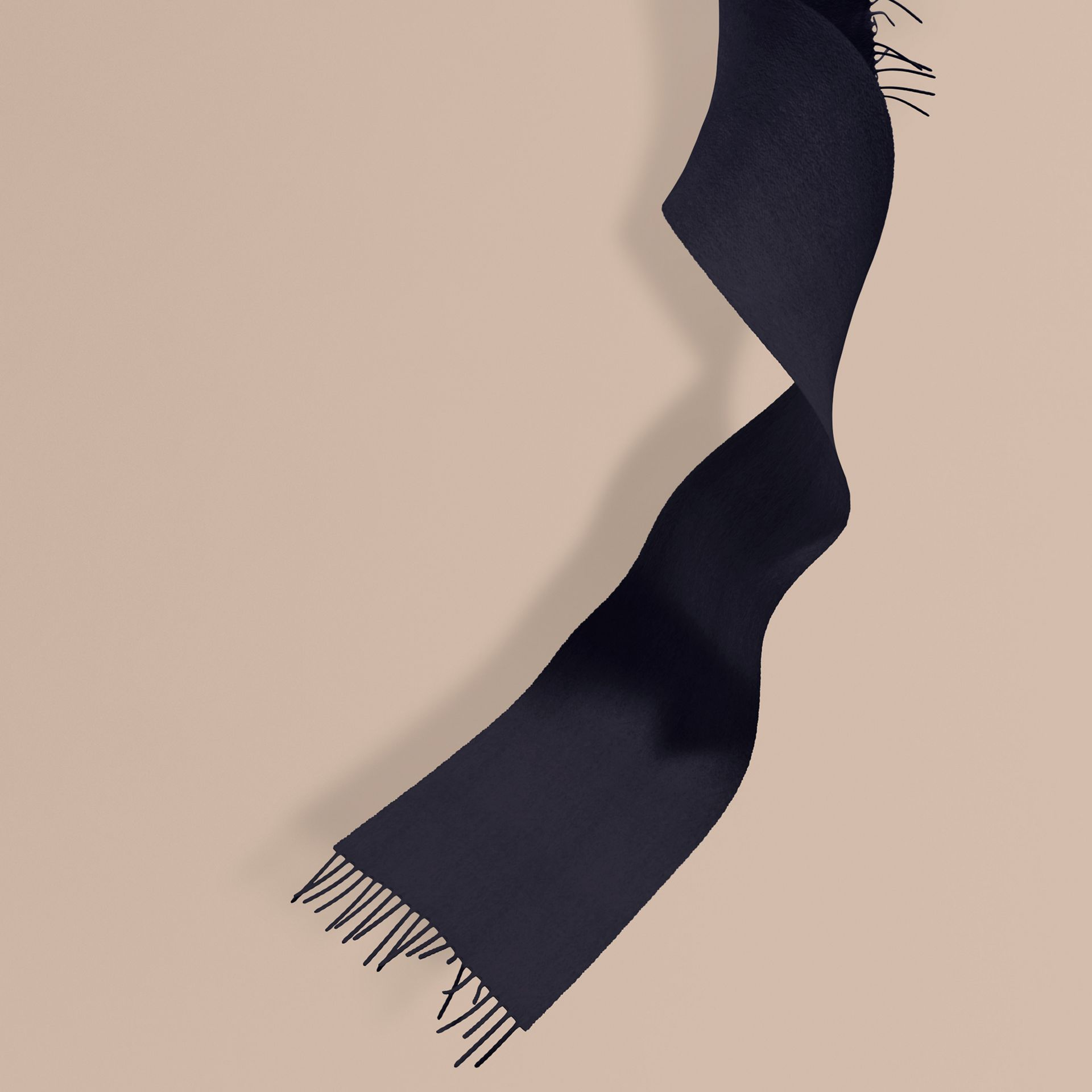 The Mini Classic Cashmere Scarf in Navy | Burberry - gallery image 1