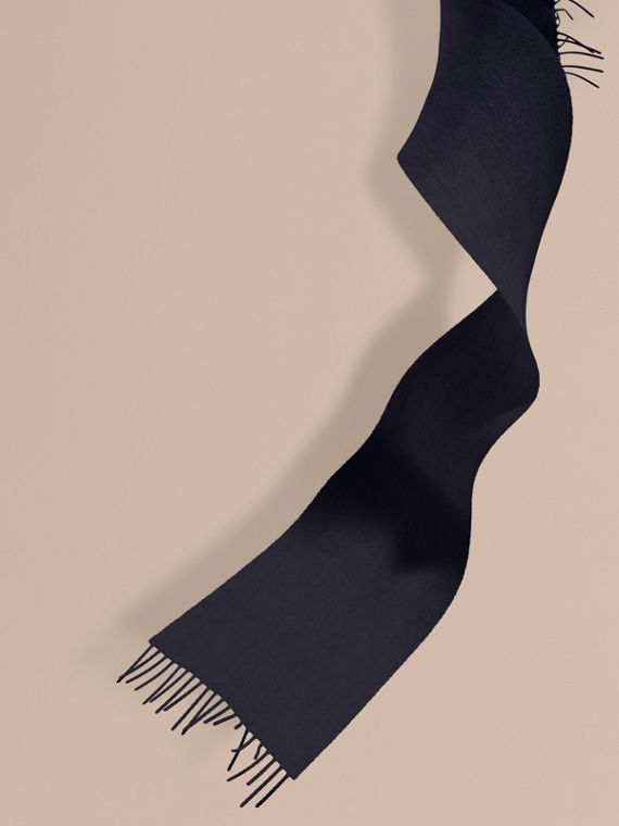The Mini Classic Cashmere Scarf in Navy | Burberry
