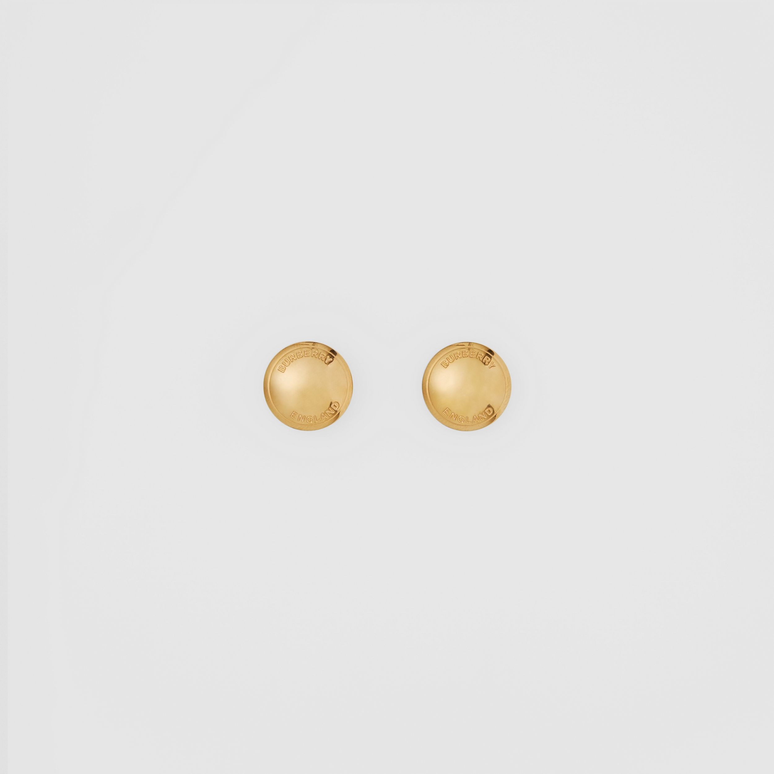 Logo Detail Gold-plated Earrings in Light - Women | Burberry - 1