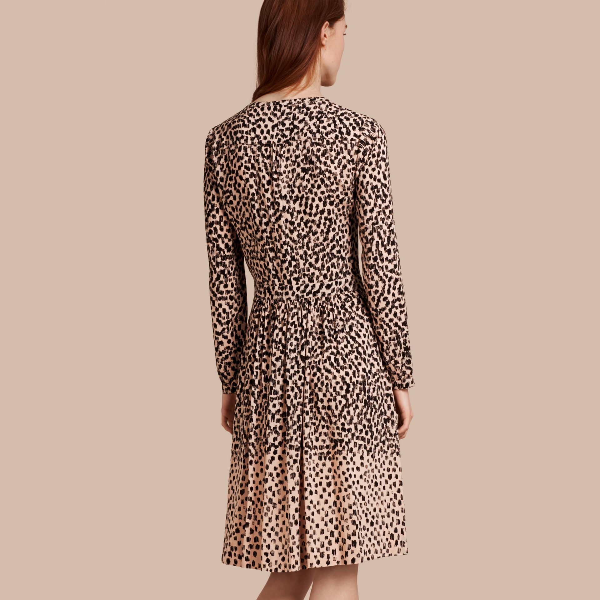 Nude Dash Print Shirt Dress Nude - gallery image 2
