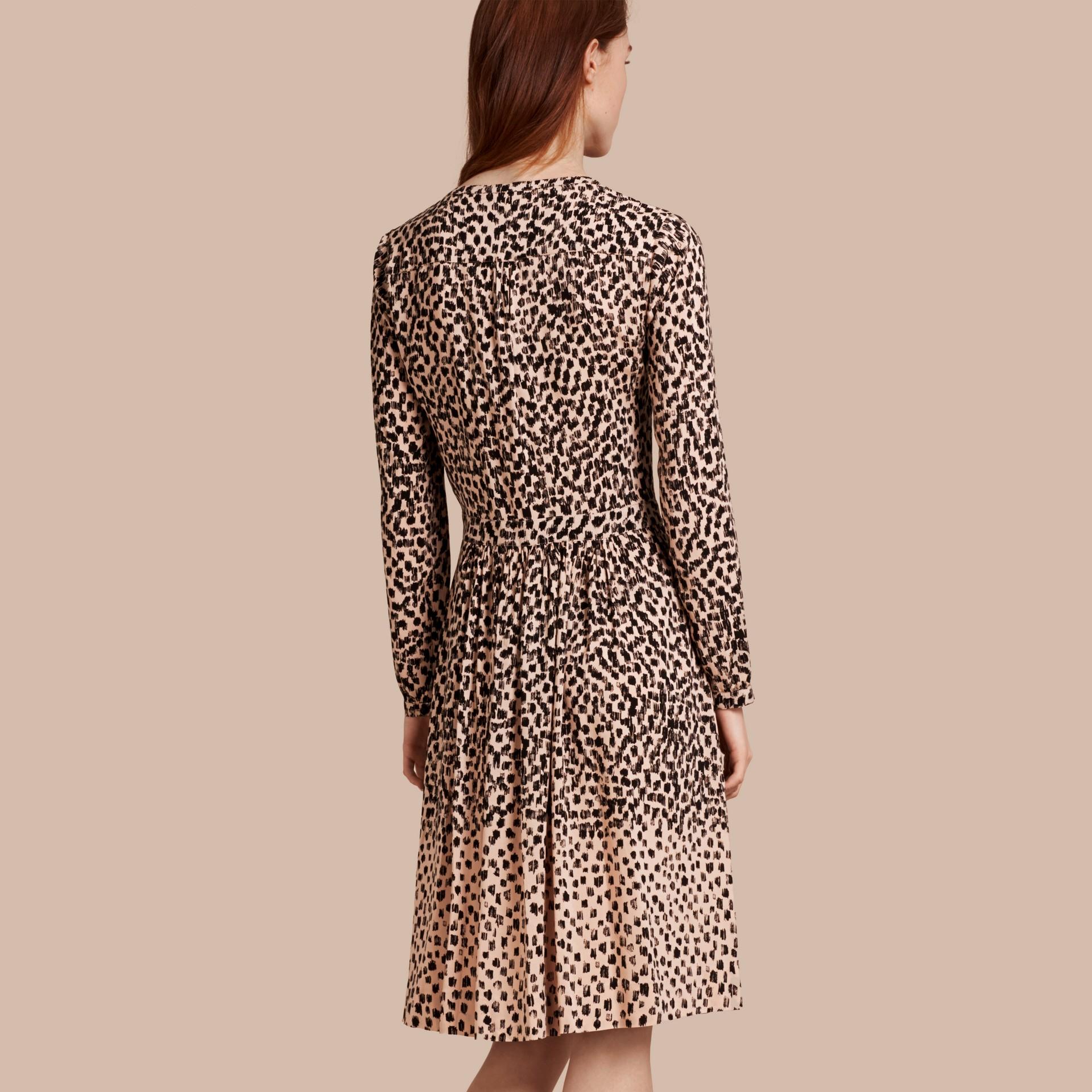Crudo Vestido camisero con estampado de rayas Crudo - imagen de la galería 2